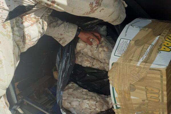 Decomisan de más de 50 kilos de callo de hacha