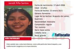 Activan Alerta Amber Nacional  por desaparición de Jaret Píña Santos en Guerrero