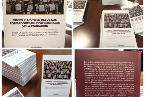 Participan maestros de la Normal Fronteriza Tijuana en libro de investigación educativa