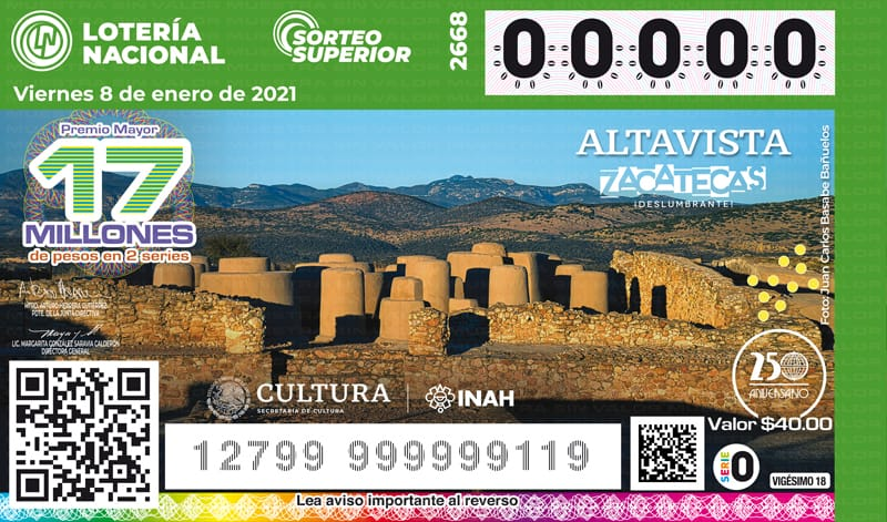 Este 2021, la fortuna llega con los rostros del patrimonio arqueológico de México