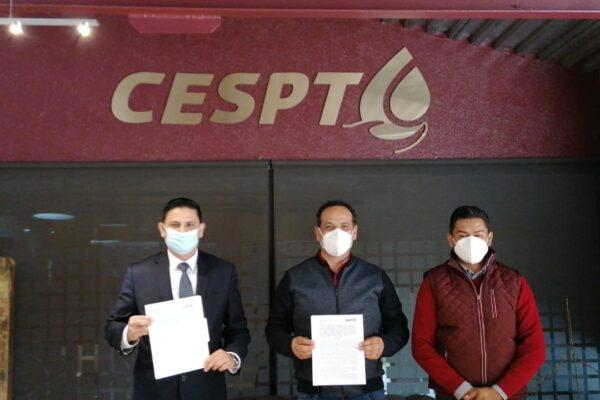 Signan convenio de colaboración la CESPT y el TJEBC para implementar notificaciones de manera electrónica
