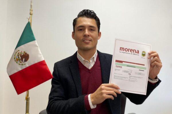 Javier Delgado se registra como precandidato a regidor de MORENA