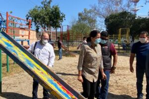 Gestiona Regidora Yolanda García rehabilitación del parque 1er. Centenario
