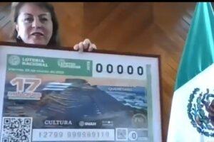 Develan el billete de El Cerrito, en Querétaro, un atractivo nacional y testimonio de la cultura tolteca