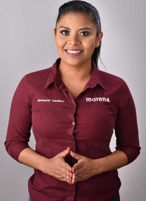 """""""Voy como candidata de las bases morenistas"""": Montserrat Caballero"""