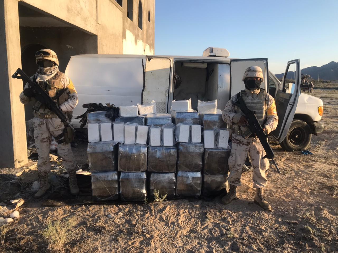 Narcos abandonan en San Felipe camioneta con cargamento de más de 135 MDP en drogas