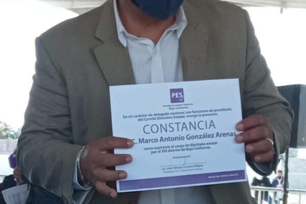 Se registra Marco González Arenas como candidato del PES al Distrito 13 de Tijuana