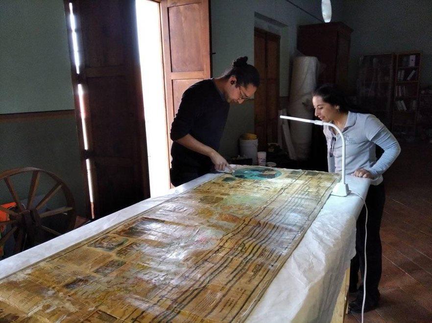 """Becarios de """"Jóvenes Construyendo el Futuro"""" coadyuvan a la conservación del patrimonio cultural de Aguascalientes"""