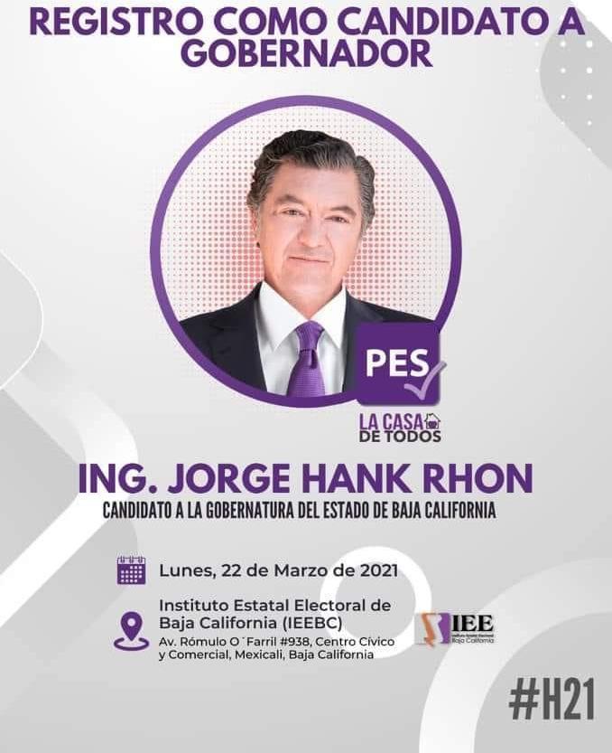 Se registrarán ante el IEE candidatos a la gubernatura de BC