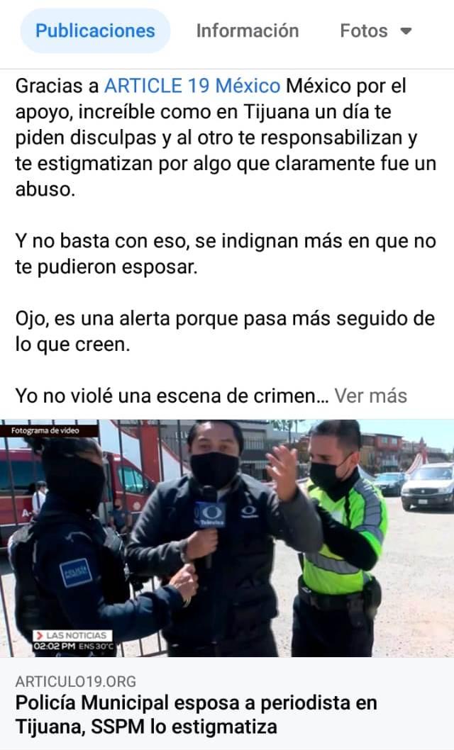 Secretario de seguridad Pedro Cruz estigmatiza a reportero de televisa agredido