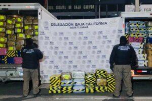 Decomisan más de 5 toneladas de marihuana y vehículos en cateo