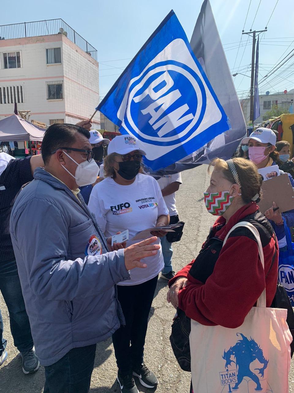 Presenta Fufo Guerrero propuestas reales a ciudadanos del Distrito 8