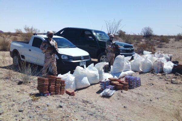 Decomisa Ejército Mexicano más de una tonelada de cristal y 27 kilos de fentanilo