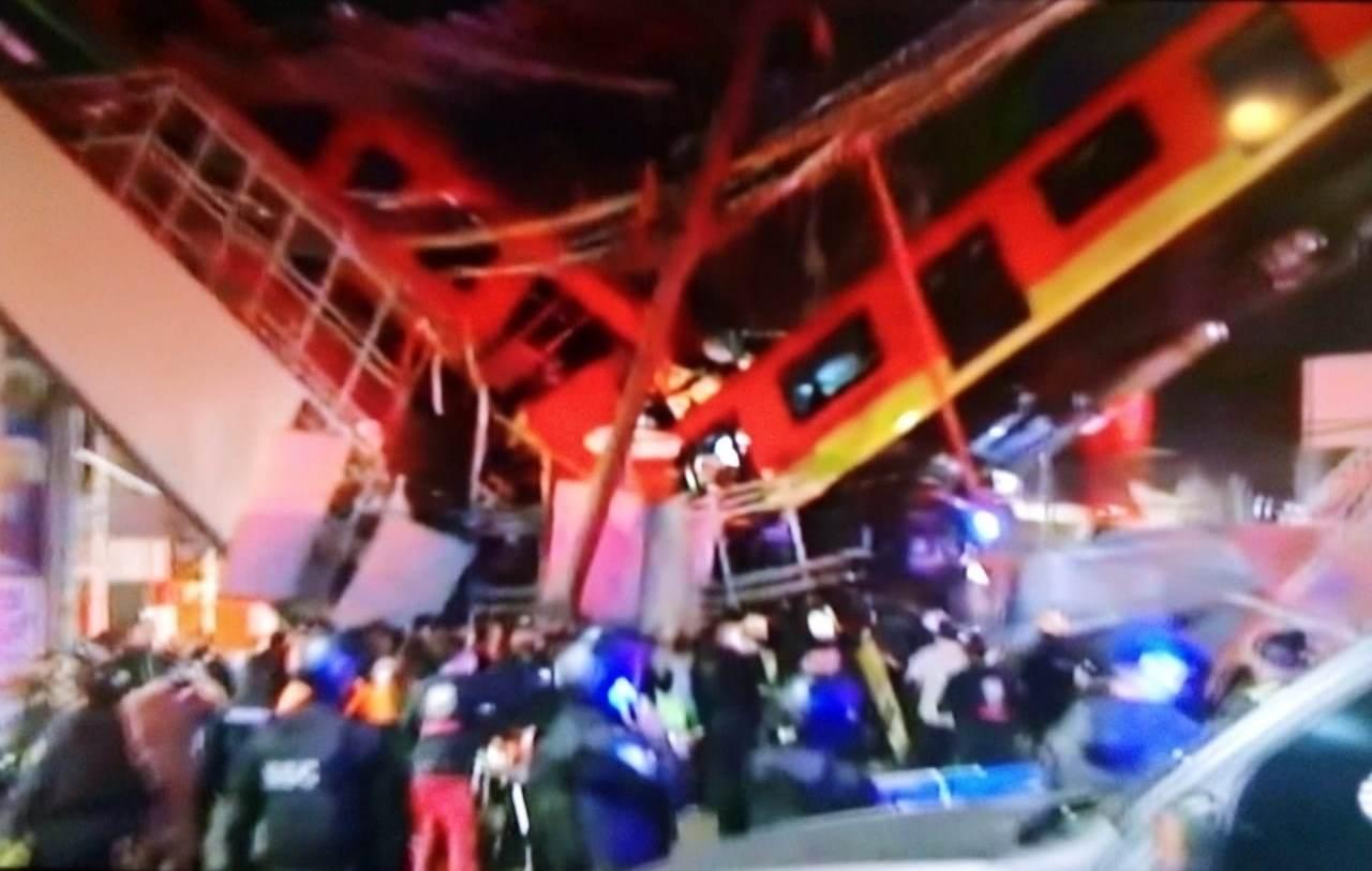 Se desploma metro en la Alcaldía de Tláhuac; hay 30 personas fallecidas