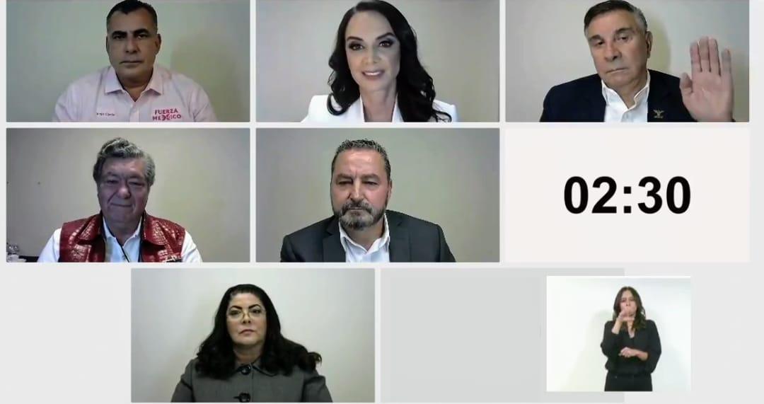 Debaten 6 de los siete candidatos a la gubernatura