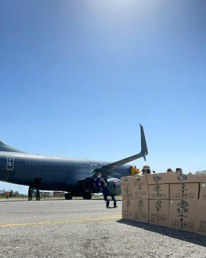 Arribaron a Base Aérea Militar de Tijuana 31 Mil 200 Dosis de SINOVAC