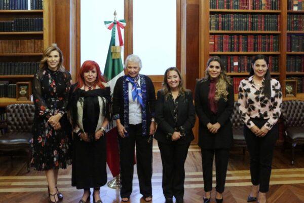 Se reúne Marina del Pilar con Olga Sánchez Cordero