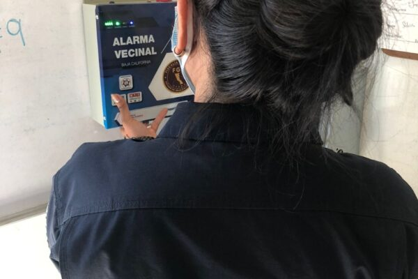 FGE prueba funcionamiento botones de Alarma Vecinal