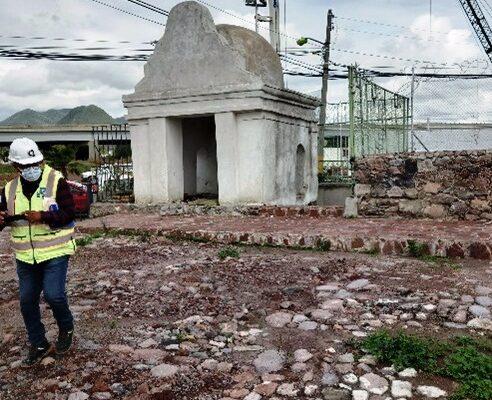 Cubre el INAH vestigios en el Albarradón de Ecatepec para protegerlos