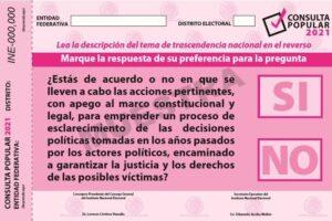 Selecciona INE la muestra de casillas para el Conteo Rápido de la Consulta Popular