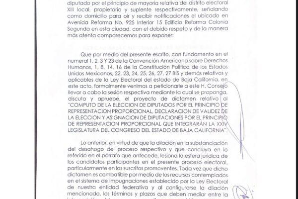 Exige Marco González al IEEBC se definan diputaciones de representación proporcional