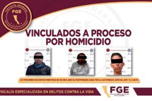 Vinculan a proceso al Junior, el Fido y el Walli por homicidio calificado