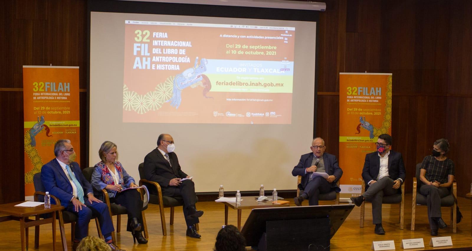 Autoridades de México, Ecuador y Tlaxcala anuncian la edición XXXII de la Feria del Libro de Antropología e Historia