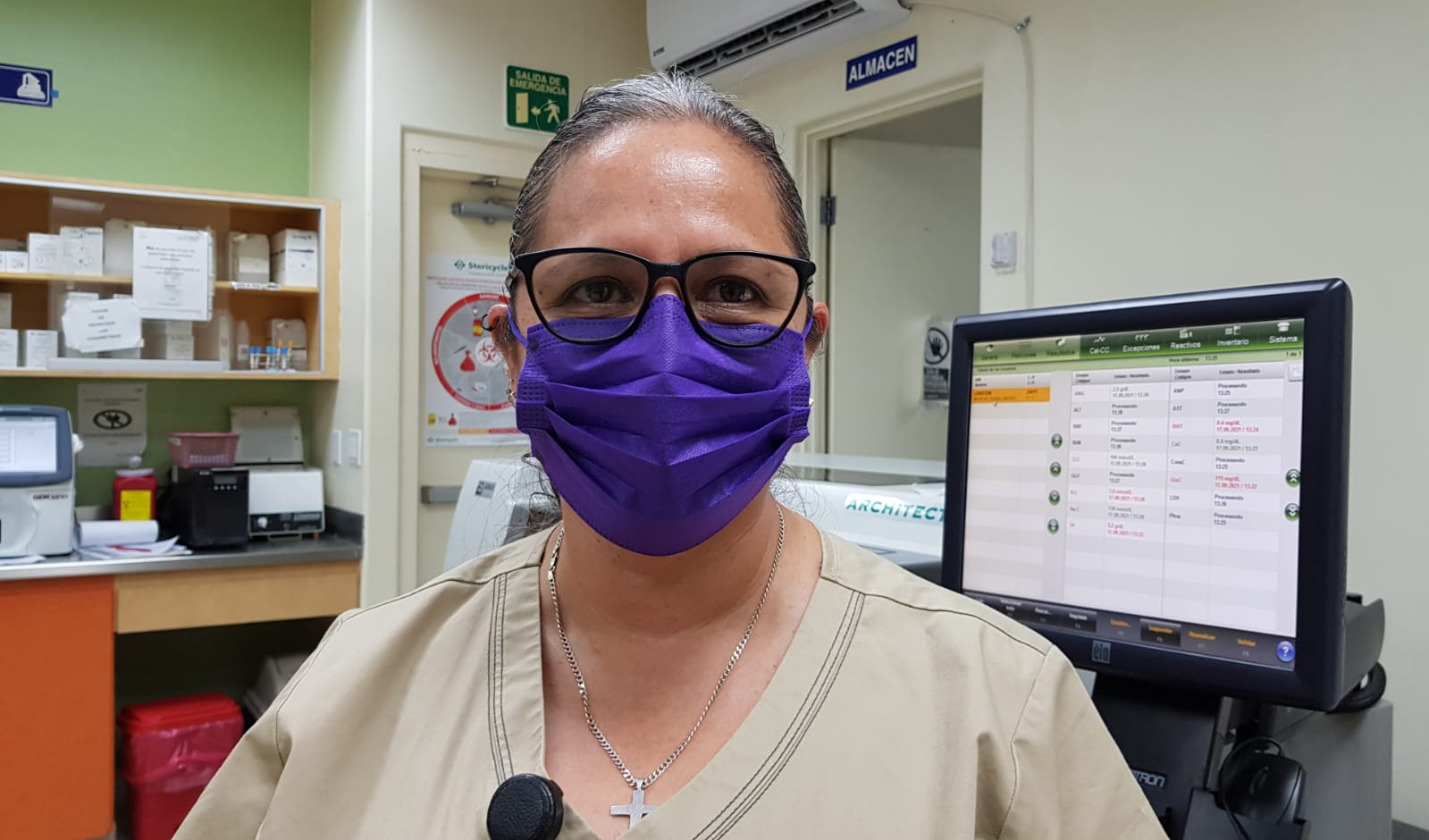 Química Farmacobióloga del Hospital General de Tijuana compartió su testimonio en la lucha contra el COVID-19