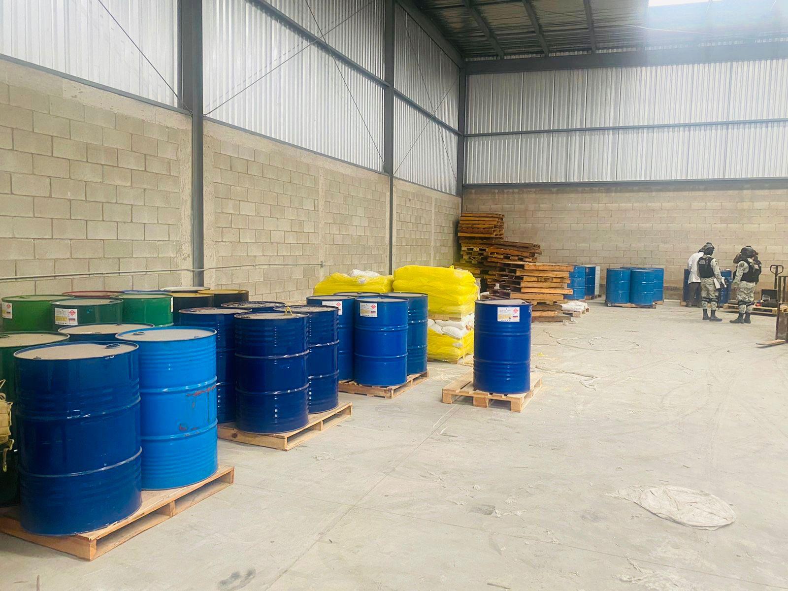 Aseguran más de 10 toneladas de precursores químicos