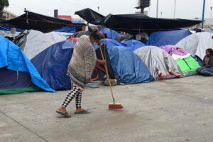 Denuncian desaparición de la menor Michel en el campamento migrante del Chaparral