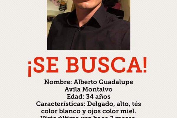 Piden apoyo para localizar a Alberto Guadalupe Arias